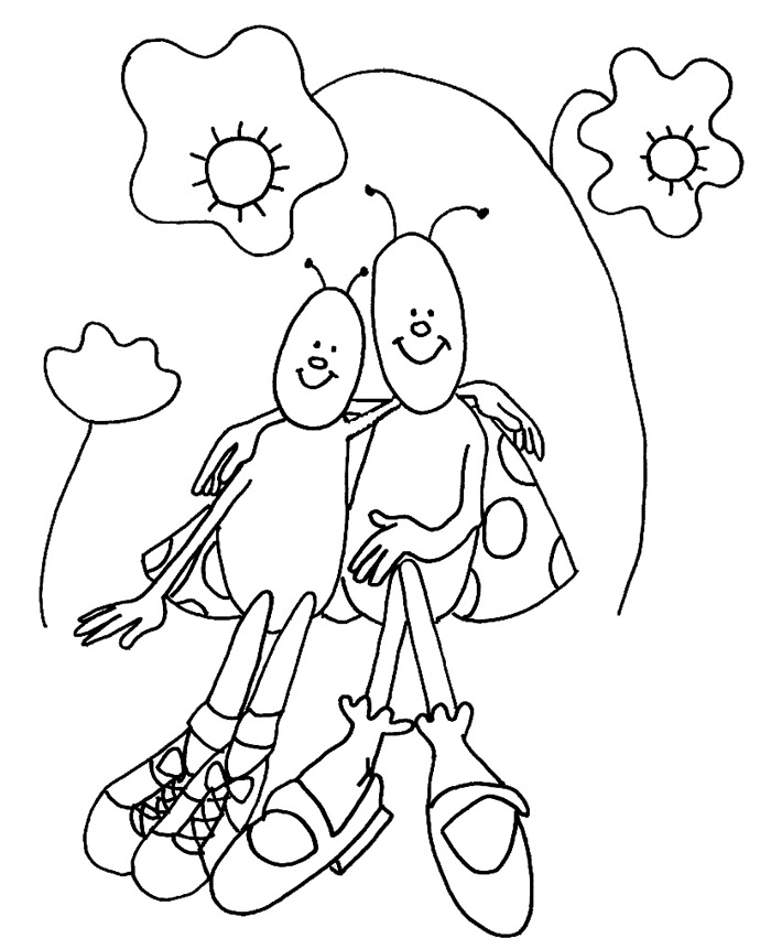 spring insects coloring pages - photo #18